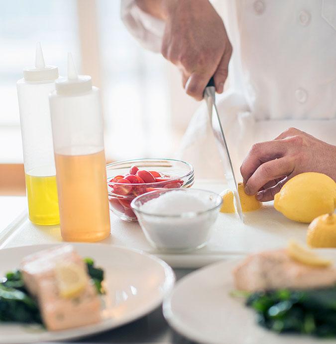 Fleisch, Gemüse und Obst als softe Gele